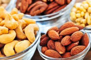 Sfeerfoto noten in bakjes